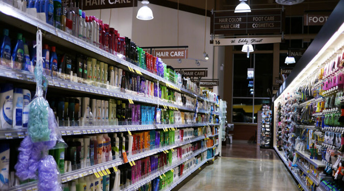 Cosmetics and Shampoo Aisle