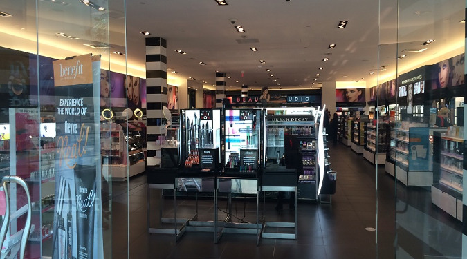 A picture of a Sephora store with the door open.