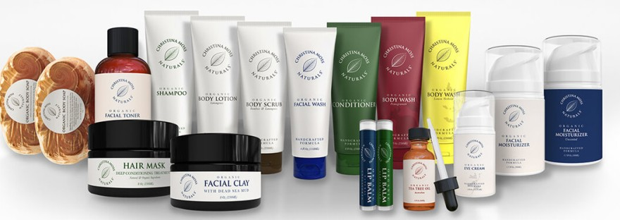Christina Moss Naturals Products grouped together