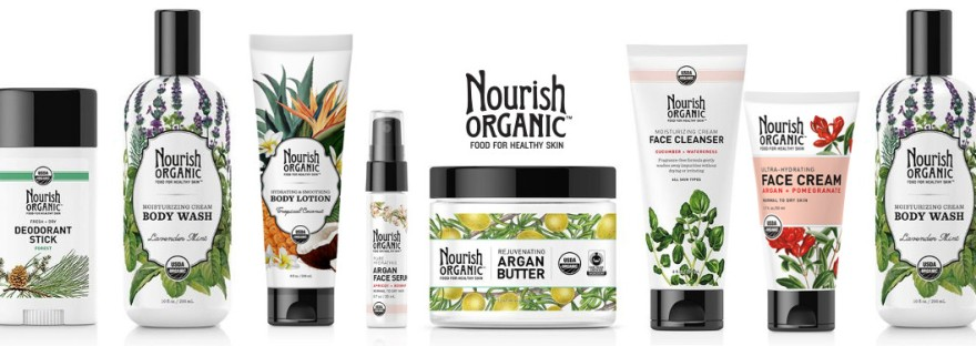 A group of Nourish Organic's best selling products